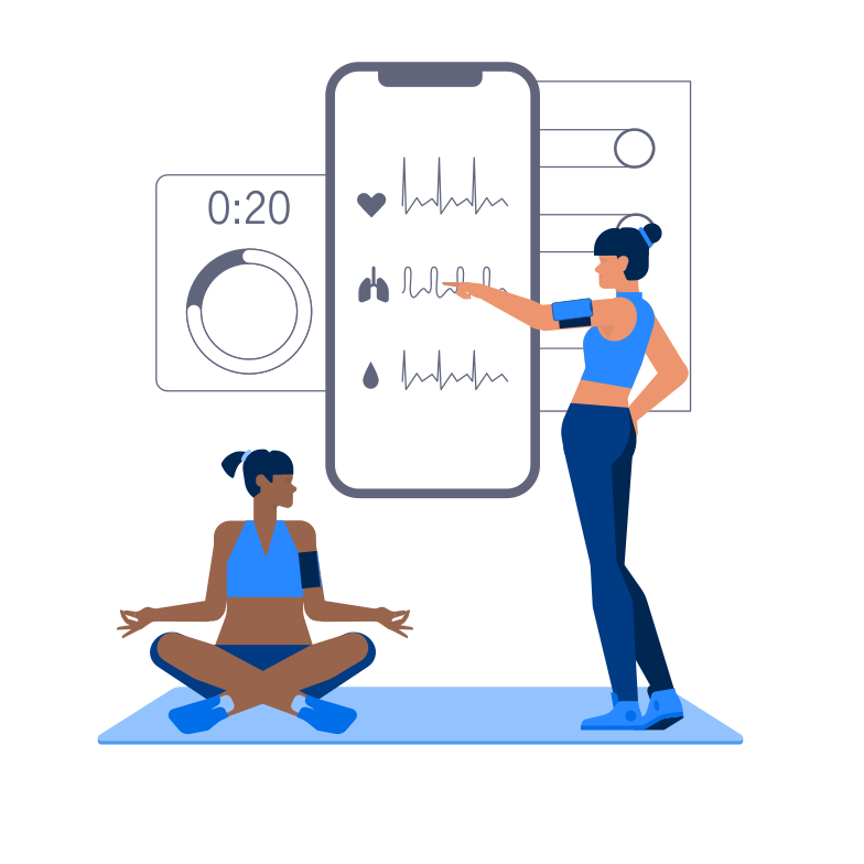 Fitness Gadgets Clipart illustration in PNG, SVG