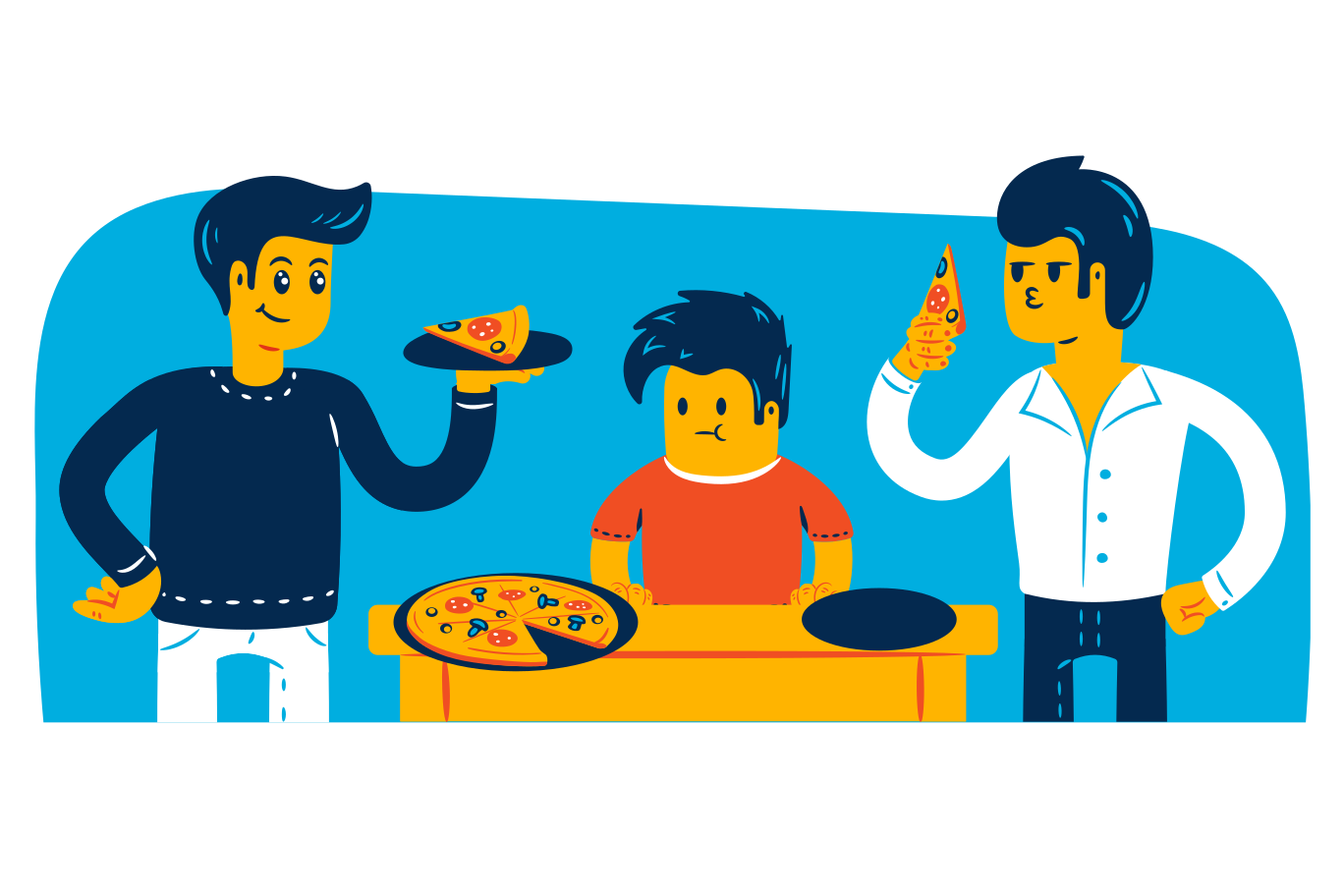 Pizza night Clipart illustration in PNG, SVG