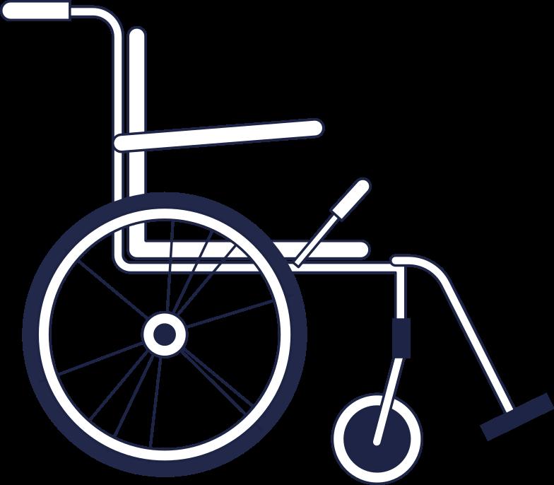 Immagine Vettoriale sedia a rotelle in PNG e SVG in stile  | Illustrazioni Icons8
