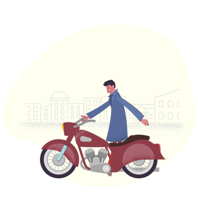 style Motorcycle in the city images in PNG and SVG | Icons8 Illustrations
