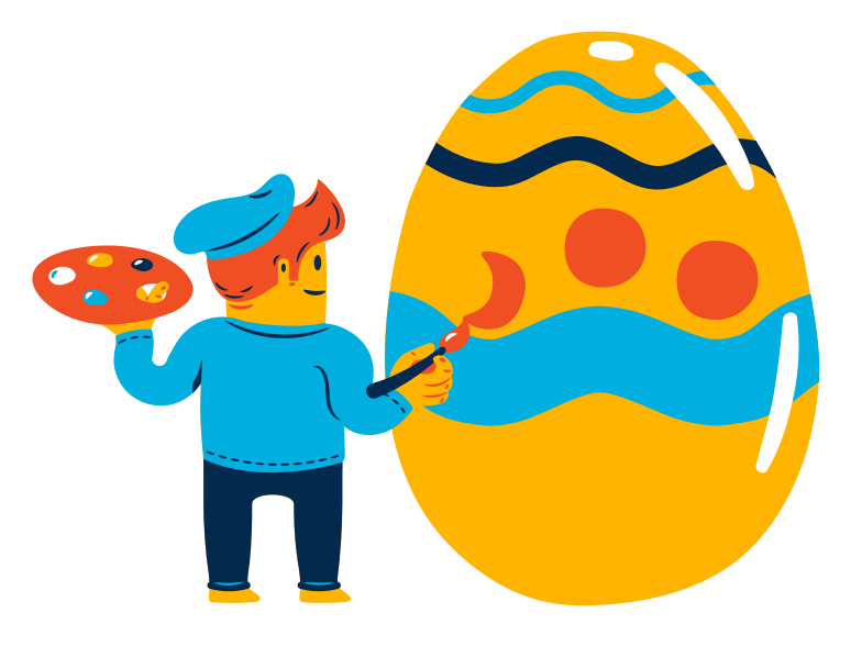 style  Easter egg painting Vector images in PNG and SVG | Icons8 Illustrations
