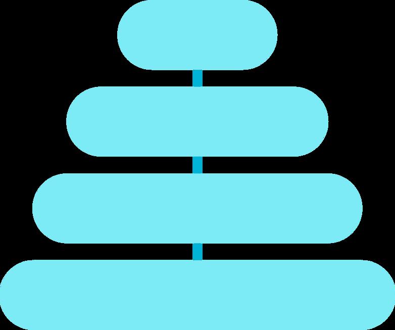 Иллюстрация и синяя пирамида gls в стиле  в PNG и SVG | Icons8 Иллюстрации