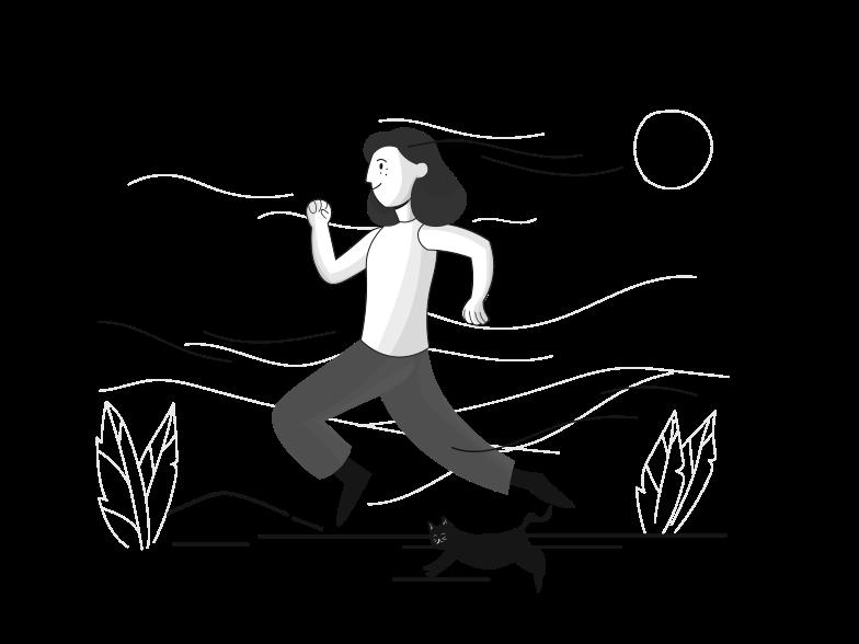 Jogging Clipart illustration in PNG, SVG