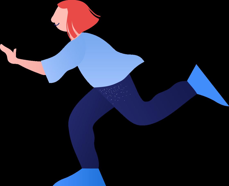 kid running Clipart illustration in PNG, SVG