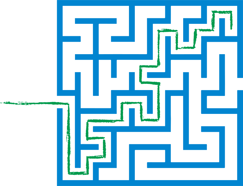 green path maze Clipart illustration in PNG, SVG