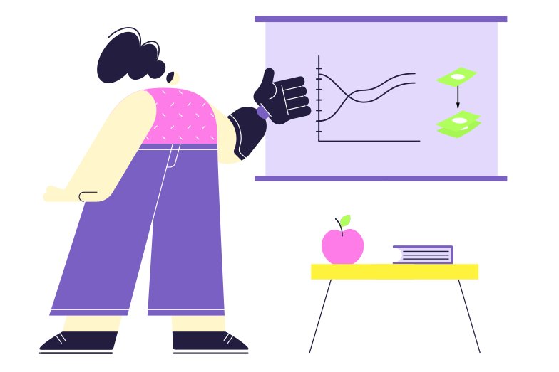 Financial literacy Clipart illustration in PNG, SVG