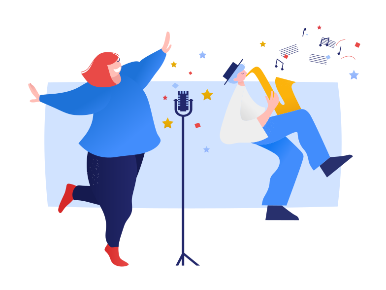 Singer and musician Clipart illustration in PNG, SVG