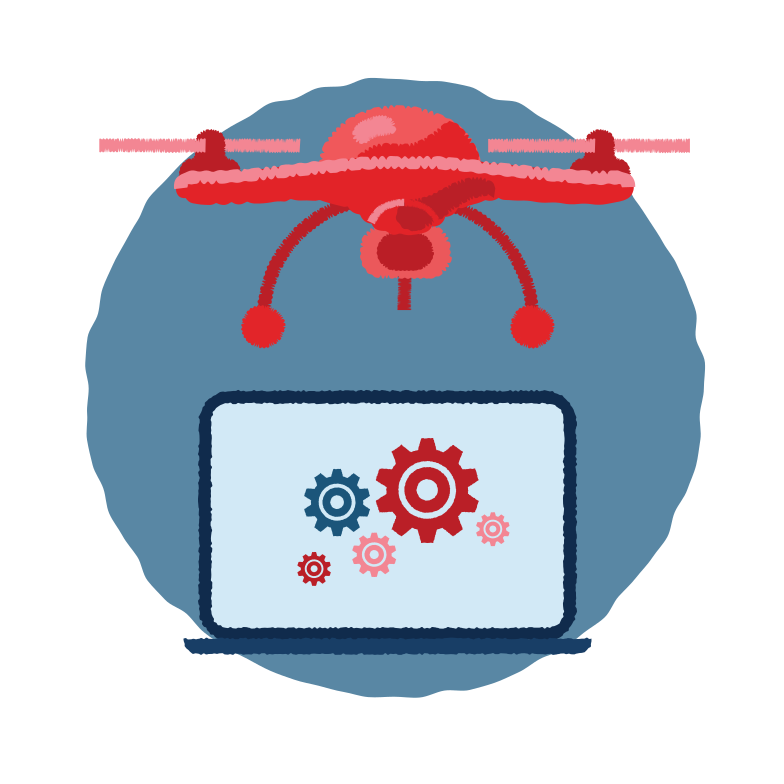 Quadrocopter Clipart illustration in PNG, SVG