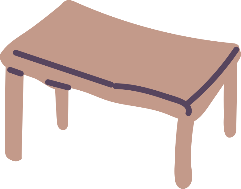 table Clipart illustration in PNG, SVG