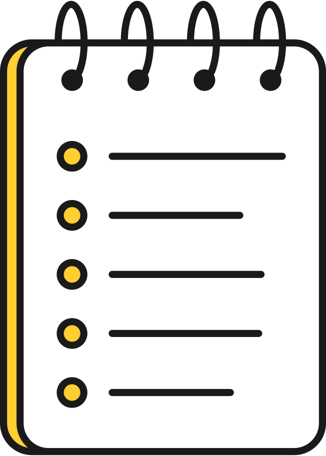 pad with list Clipart illustration in PNG, SVG