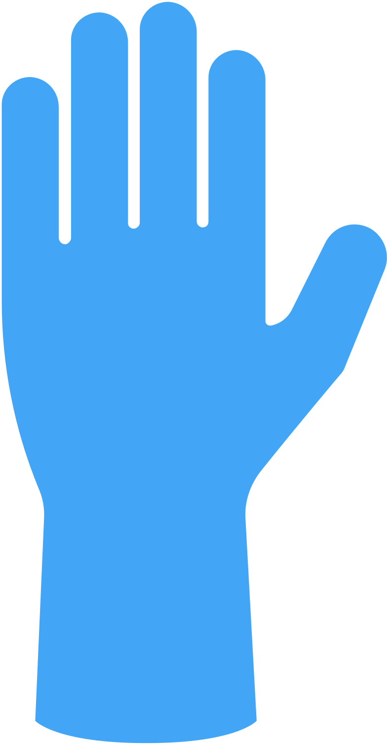 examination gloves Clipart illustration in PNG, SVG