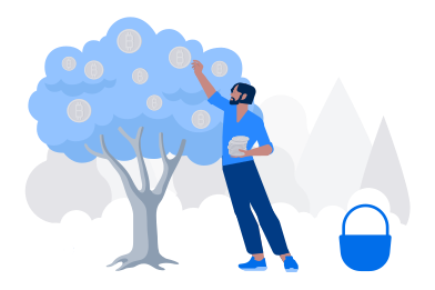 style Collecting bitcoins images in PNG and SVG | Icons8 Illustrations