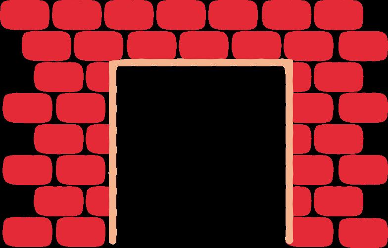 fireplacebrick Clipart illustration in PNG, SVG