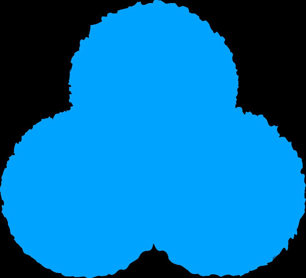 trefoil sky blue Clipart illustration in PNG, SVG