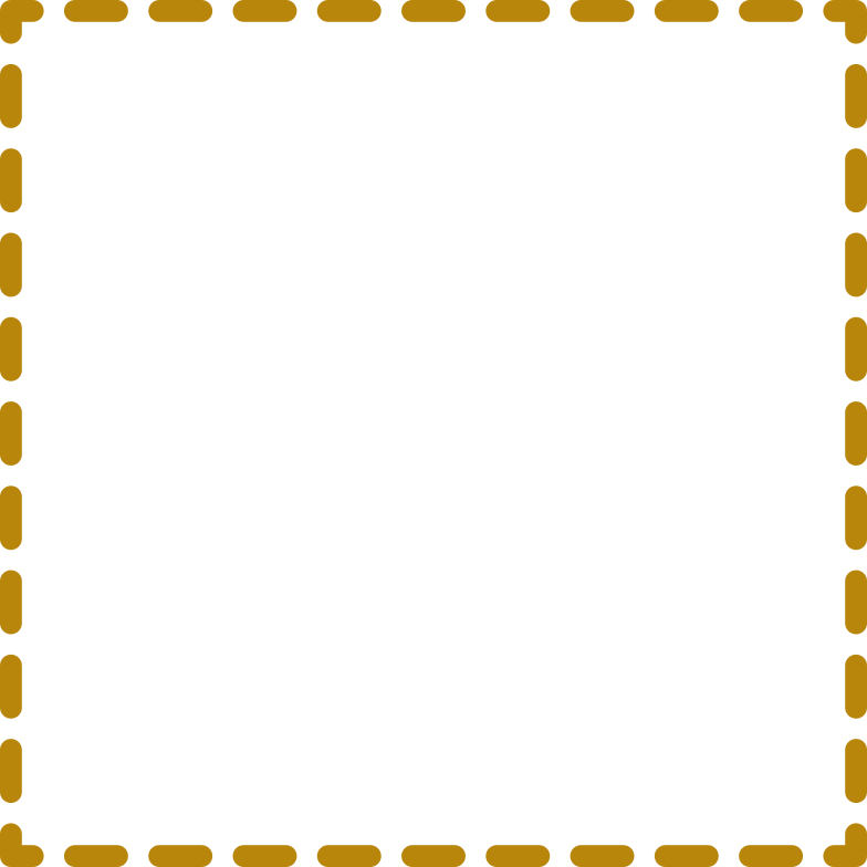 gold rectangle dashed Clipart illustration in PNG, SVG