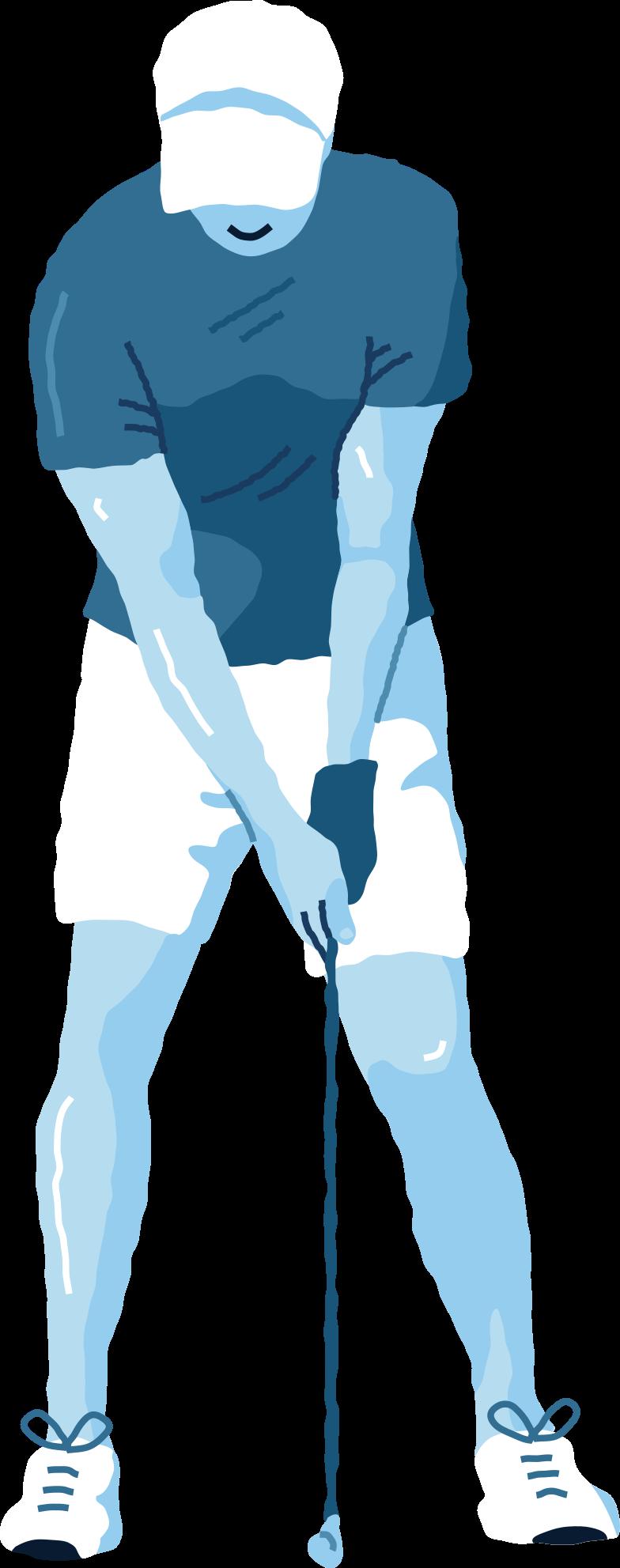 Иллюстрация игрок в гольф в стиле  в PNG и SVG | Icons8 Иллюстрации
