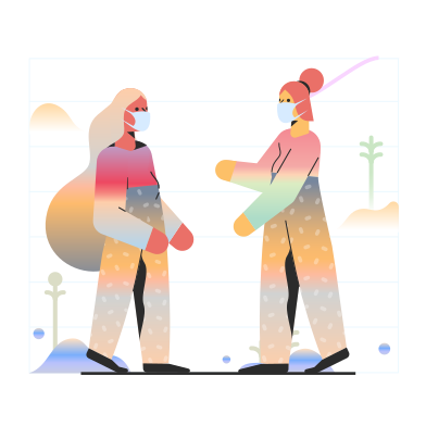style Meeting friends during coronavirus images in PNG and SVG | Icons8 Illustrations