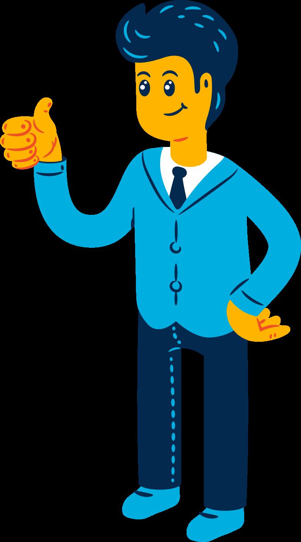 man suit Clipart illustration in PNG, SVG
