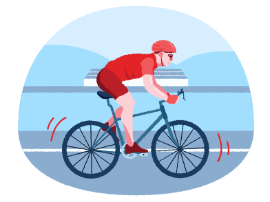 style Bicyclist images in PNG and SVG | Icons8 Illustrations