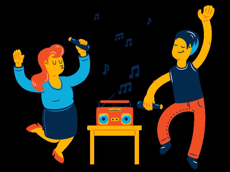 Dance, dance Clipart illustration in PNG, SVG