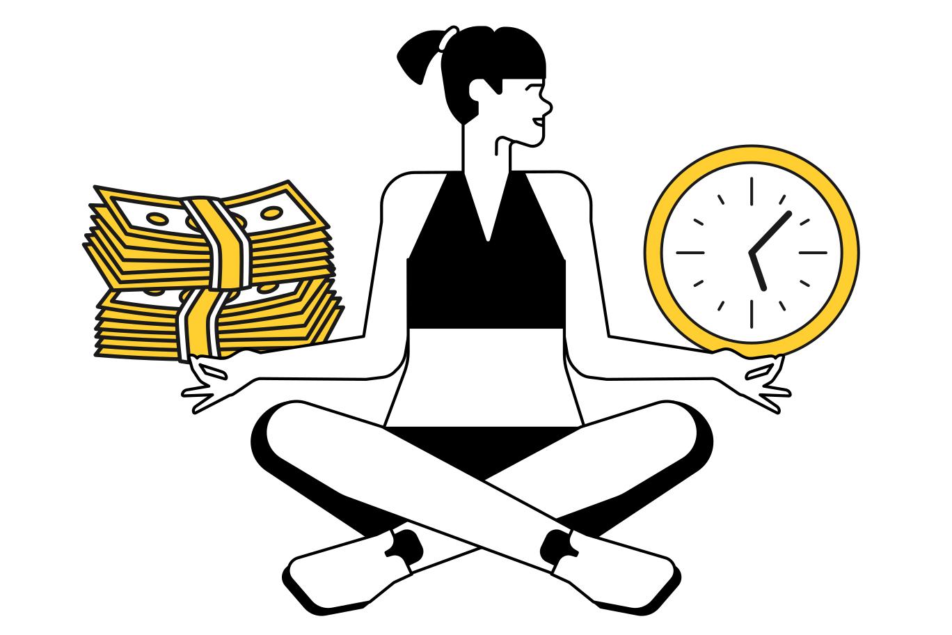 Time is money Clipart illustration in PNG, SVG