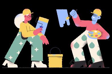 Иллюстрация Ремонт дома в стиле  в PNG и SVG | Icons8 Иллюстрации
