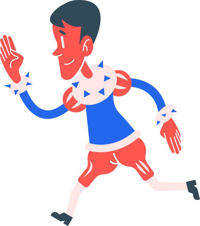 boy running Clipart illustration in PNG, SVG