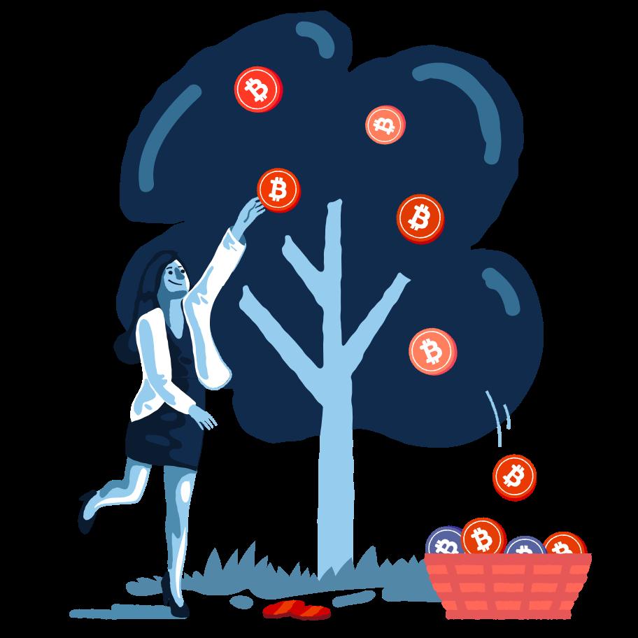 Ilustración de clipart de Elige bitcoins en PNG, SVG