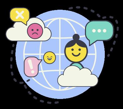 Иллюстрация Международный разговор в стиле  в PNG и SVG | Icons8 Иллюстрации