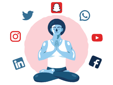 style A day without social media images in PNG and SVG | Icons8 Illustrations