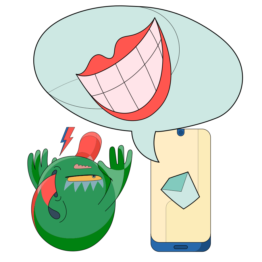 Intrusive adware Clipart illustration in PNG, SVG