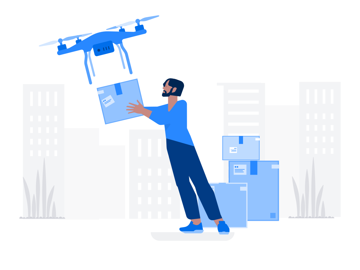 style Drone Delivery Vector images in PNG and SVG | Icons8 Illustrations