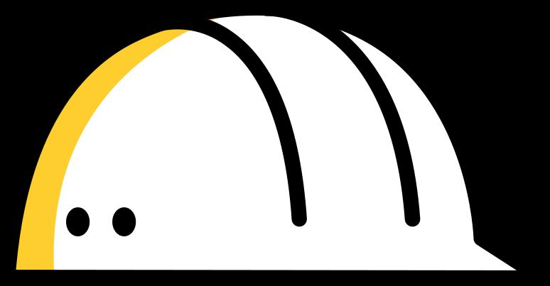 construction  working helmet Clipart illustration in PNG, SVG