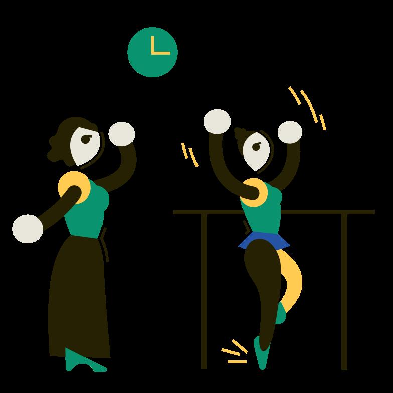 Dance lessons Clipart illustration in PNG, SVG