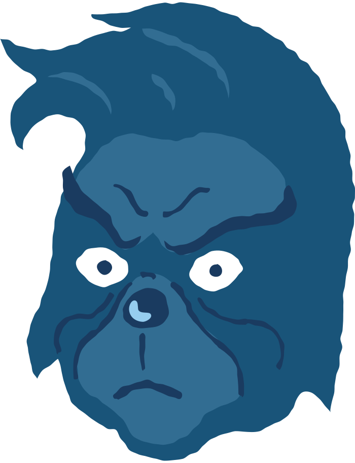 style grinch head no hat angry Vector images in PNG and SVG   Icons8 Illustrations