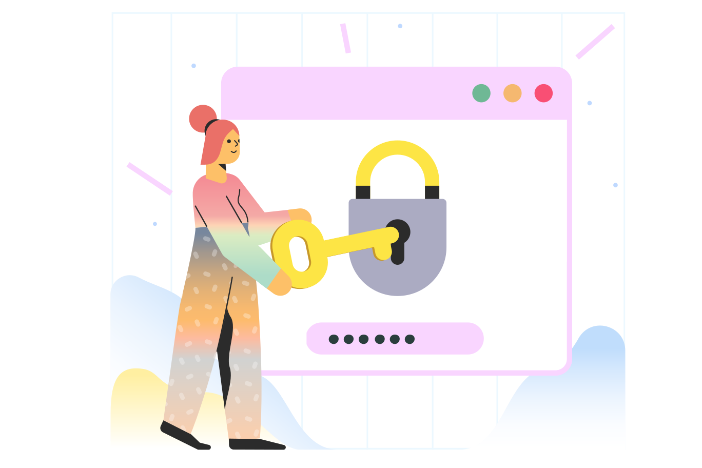 Password protection Clipart illustration in PNG, SVG