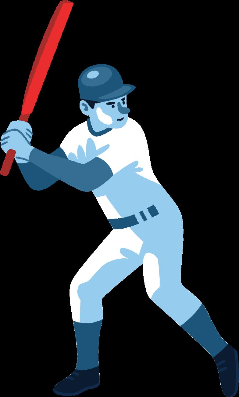 Ilustración de clipart de hombre de cricket en PNG, SVG