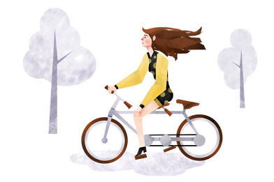 style Ride a bike images in PNG and SVG | Icons8 Illustrations