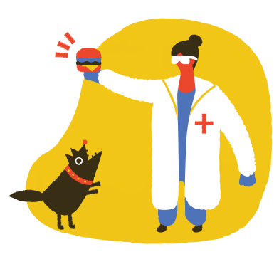 style Barking at the vet clinic images in PNG and SVG | Icons8 Illustrations