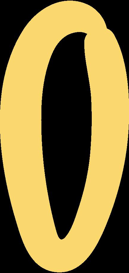 o letter Clipart illustration in PNG, SVG