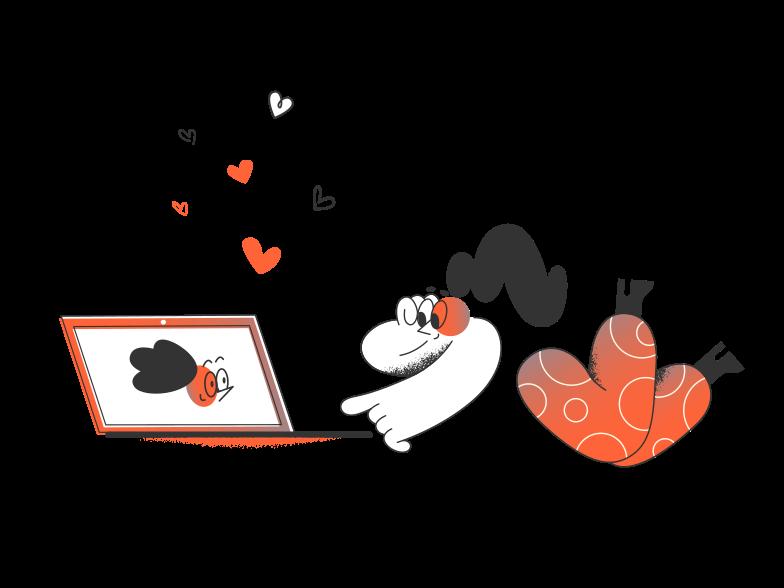 Online relationship Clipart illustration in PNG, SVG