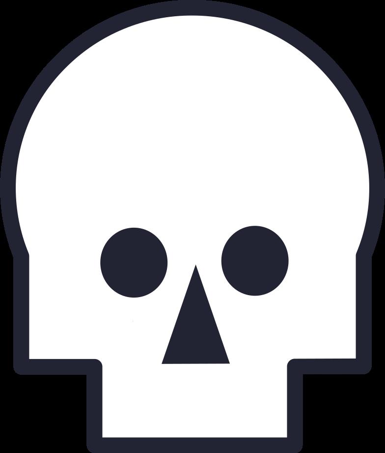 Ilustración de clipart de skull en PNG, SVG