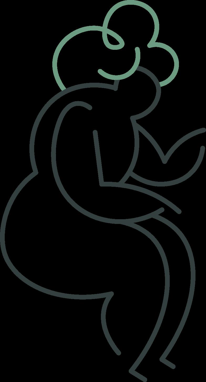 grandmother sitting Clipart illustration in PNG, SVG