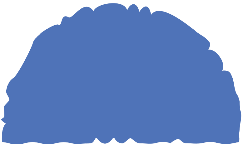 semicircle blue Clipart illustration in PNG, SVG