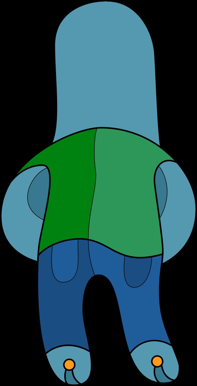 child back boy stand Clipart illustration in PNG, SVG