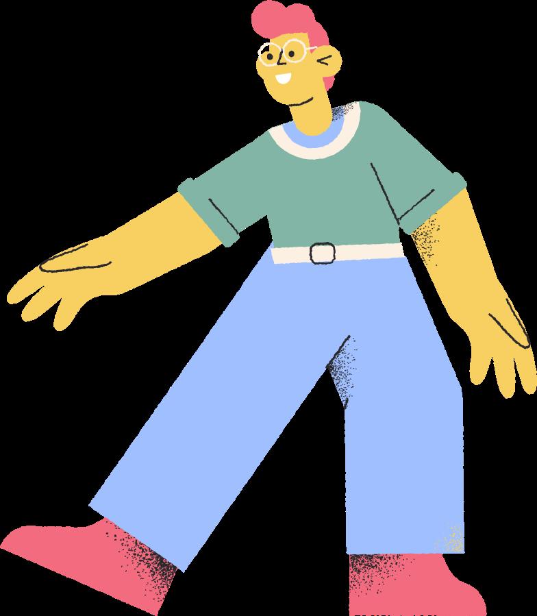 Immagine Vettoriale uomo con gli occhiali in PNG e SVG in stile  | Illustrazioni Icons8