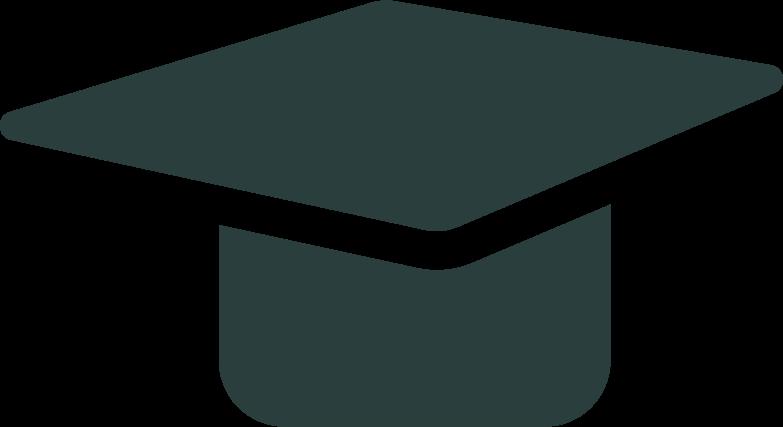 graduate cap Clipart illustration in PNG, SVG