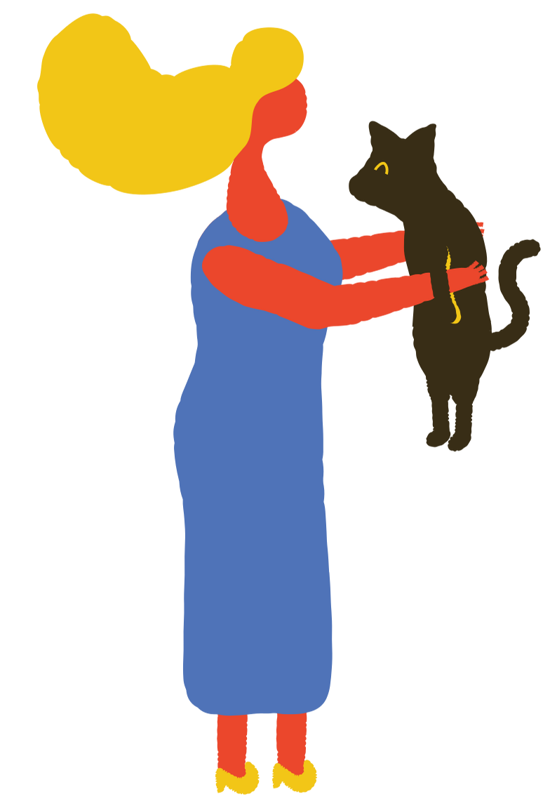 style woman with cat Vector images in PNG and SVG | Icons8 Illustrations