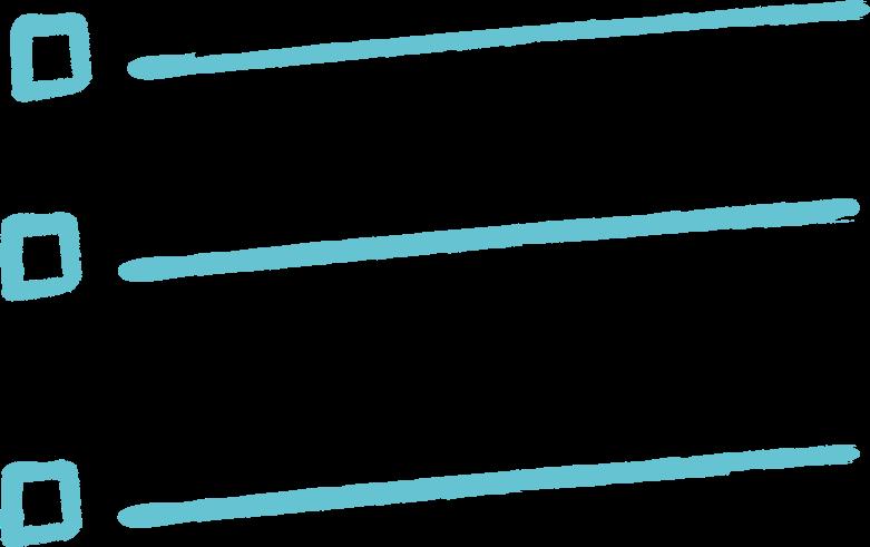 bullet list Clipart illustration in PNG, SVG