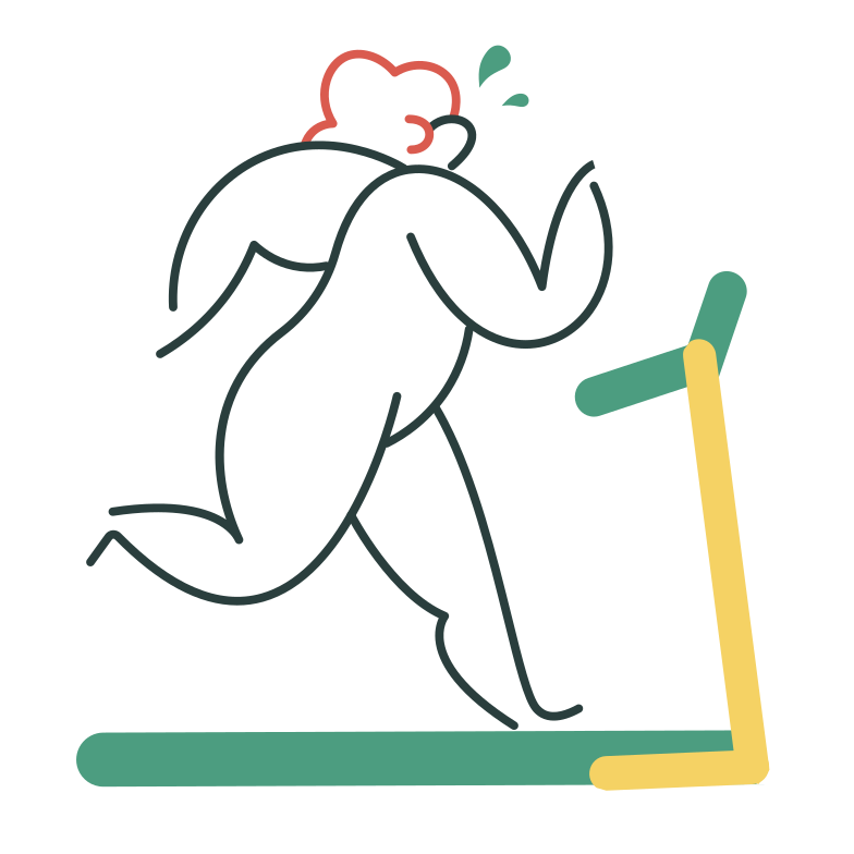 style Running on a treadmill Vector images in PNG and SVG | Icons8 Illustrations